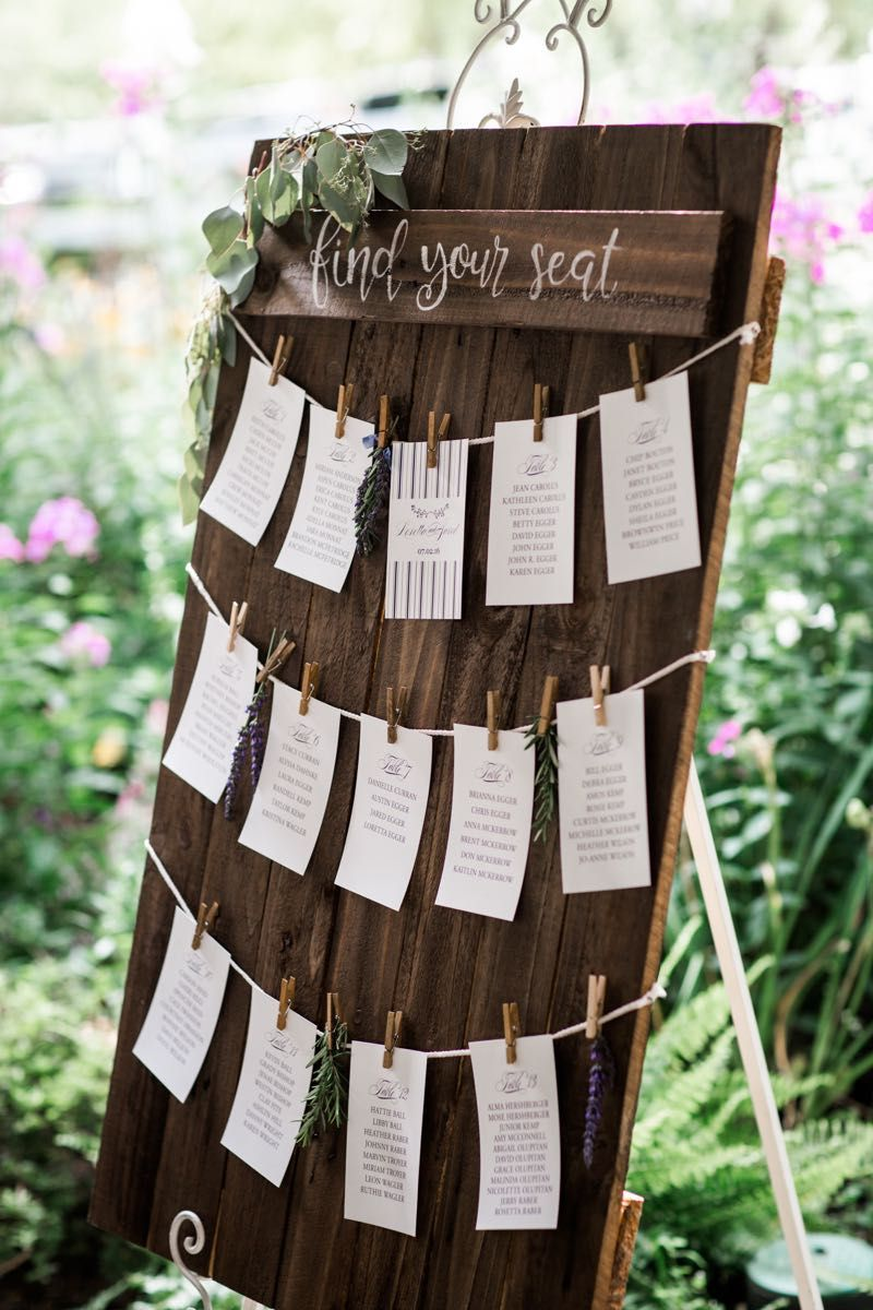 Herb drying inspired seating chart #cedarwoodweddings ...