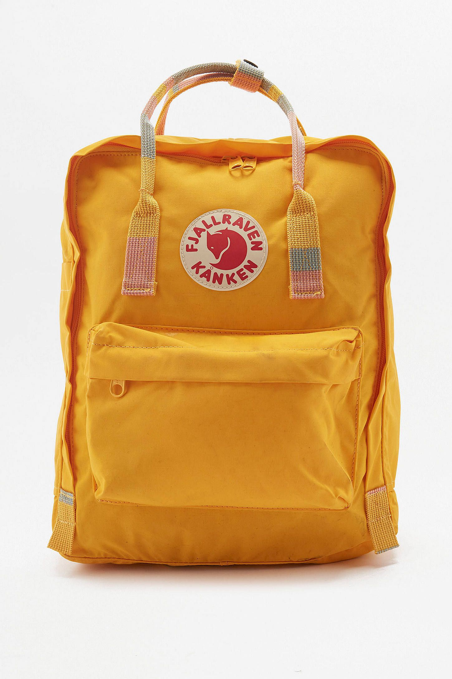 42765feaa Shop Fjallraven Kanken Warm Yellow Striped Handle Backpack at Urban  Outfitters today. We carry all the latest styles, colours and brands for  you to choose ...