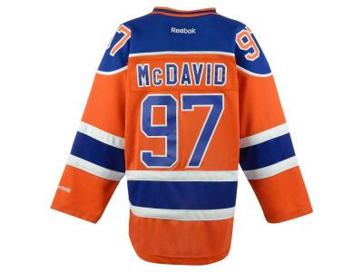 c91447df455 Edmonton Oilers Connor McDavid NHL CN Youth Premier Player Jersey ...