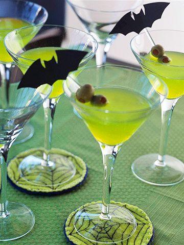 Hyytävät drinkit. Lapsille vaikka vihreästä limpparista.