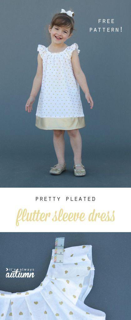 20 Must-Sew FREE Girl\'s Dress Patterns   Kinderkleidung, Nähen und ...