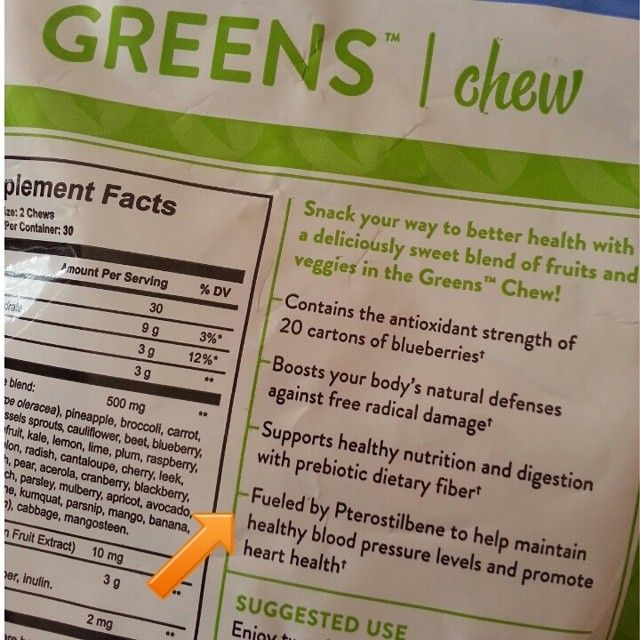 """Great testimony from my friend Terri who uses the Greens Chews daily: """"Last  year"""
