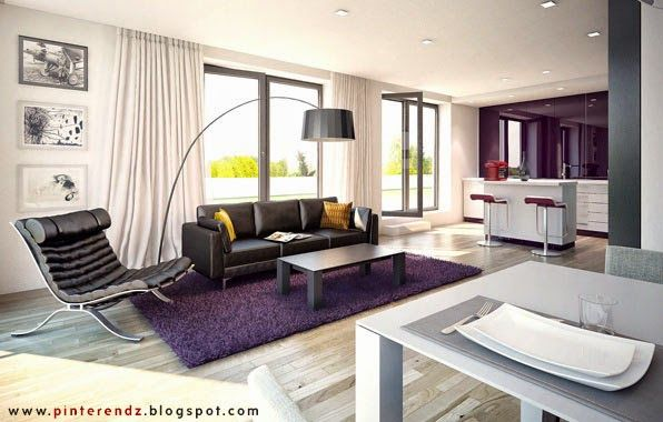 Purple interior.