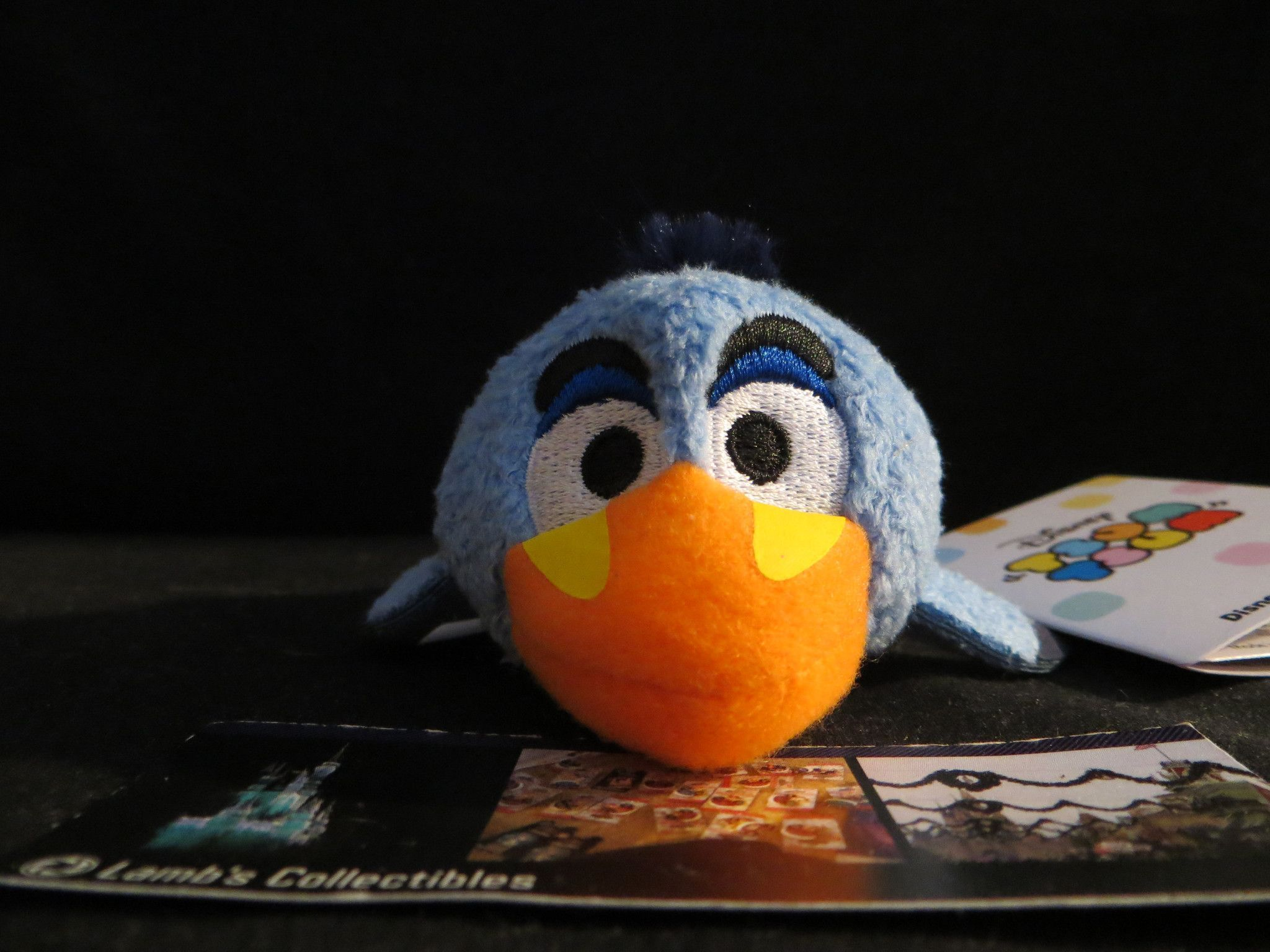 "Disney Store Authentic Tsum Tsum Lion King Zazu Plush Mini 3 1/2"" USA"
