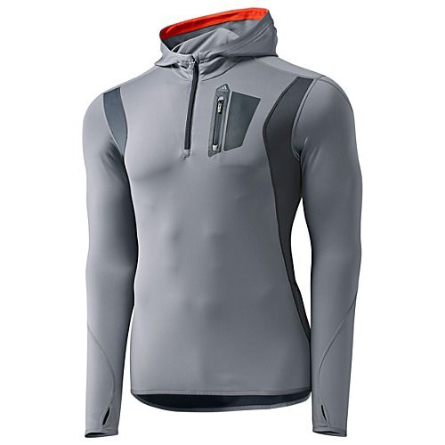 huge discount 94b29 634b2 adidas Techfit Climawarm Quarter-Zip Hoodie grey