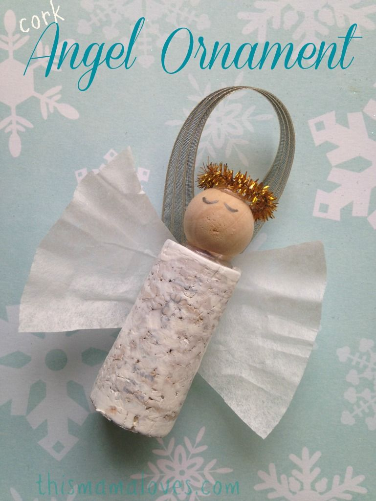 Do you love crafting your own holiday ornaments? If so, this cork angel ornament is the perfect project for you to try. You can make your own cork angel or