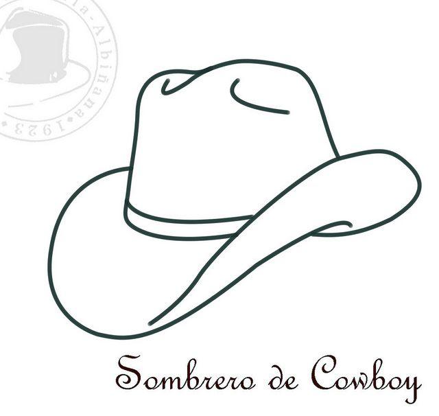 Sombreros para Colorear – II | Vaqueros, Fiesta vaquera y Fiestas