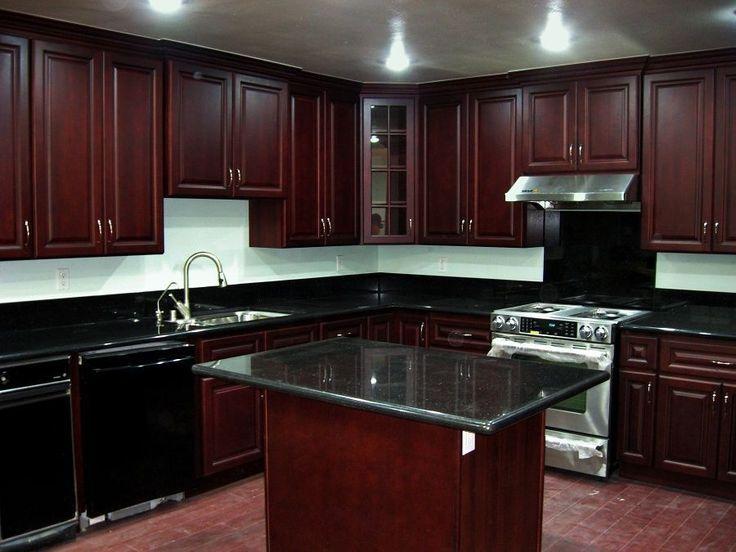 kitchen design ideas dark cabinets dark cherry kitchen ...