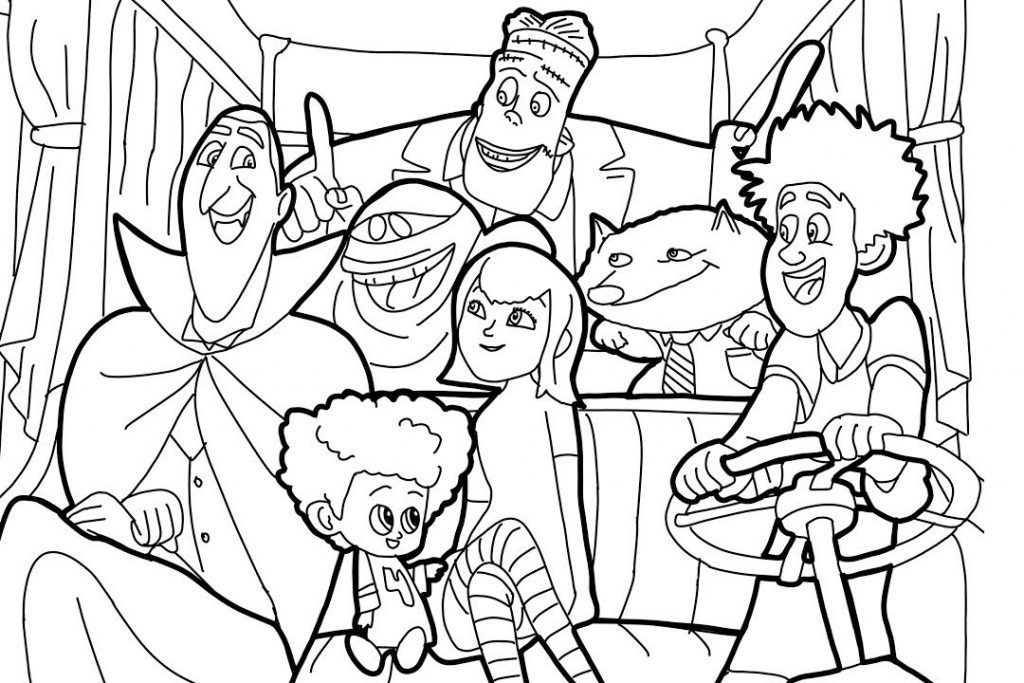 Hotel Transylvania Coloring Pages Best Coloring Pages For Kids Coloring Pages Cartoon Coloring Pages Free Coloring Pages