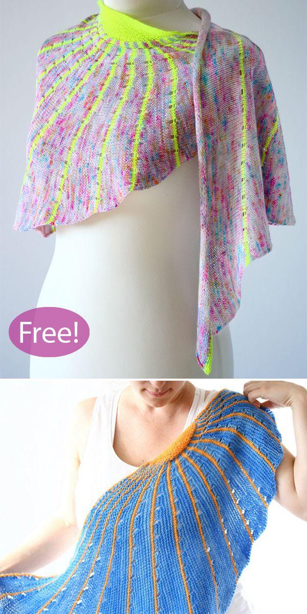 Photo of Striped Shawl Knitting Patterns