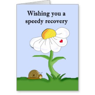 Wishing You A Speedy Recovery Greeting Card Also Available Wishing You A Speedy Recovery From Hip Surge Recovery Cards Get Well Cards Recovery Greeting Cards