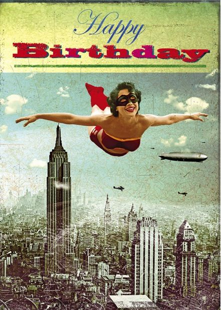 Funny Vintage Happy Birthday Cards