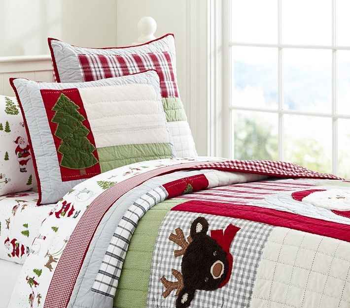 Dear Santa Quilted Bedding Pottery Barn Kids Kids Christmas