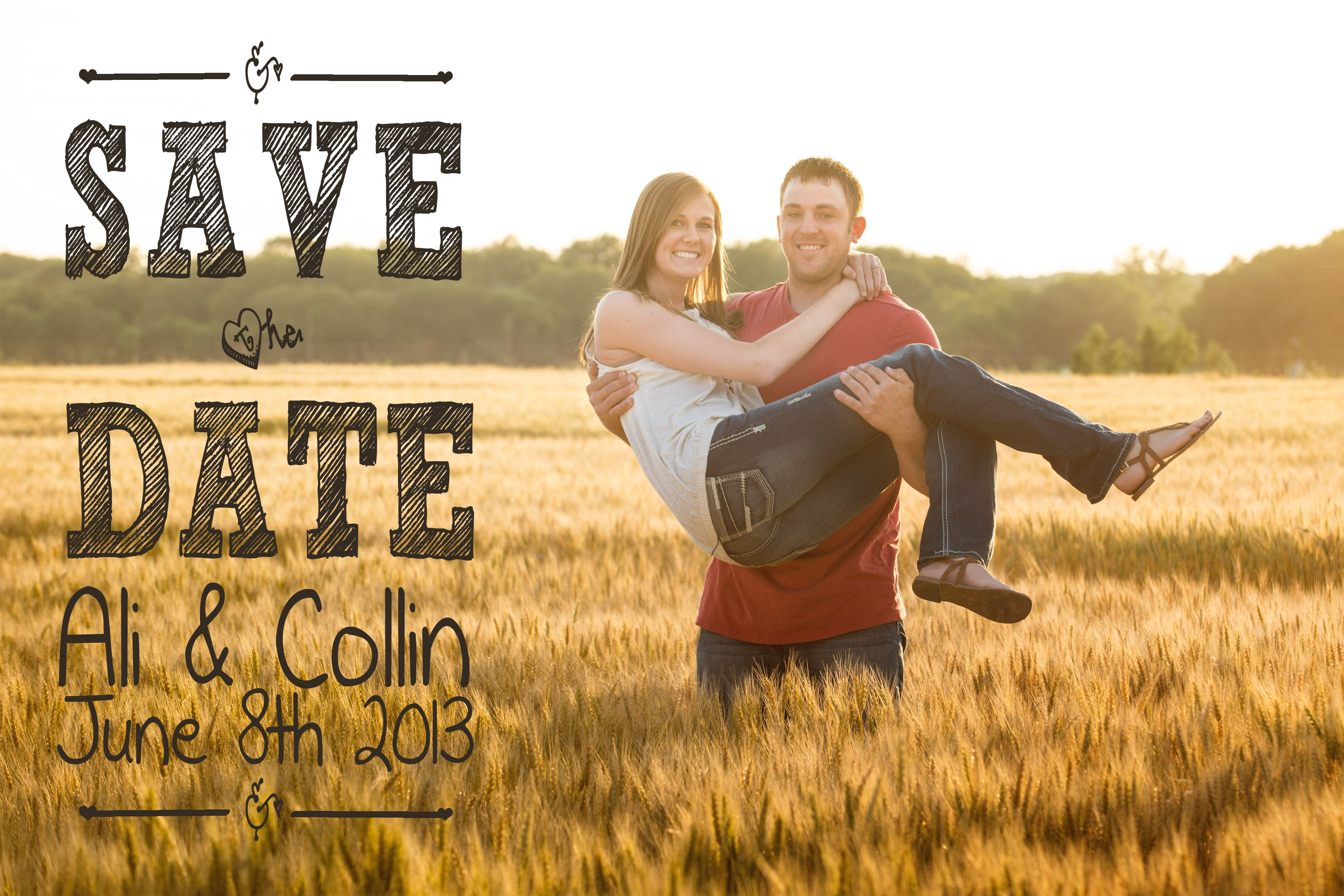 Save the Date | Fun Save the Date Design | Joe R Geske Photography | Manhattan Kansas Photographer | Kansas Wedding and Engagement Photographer