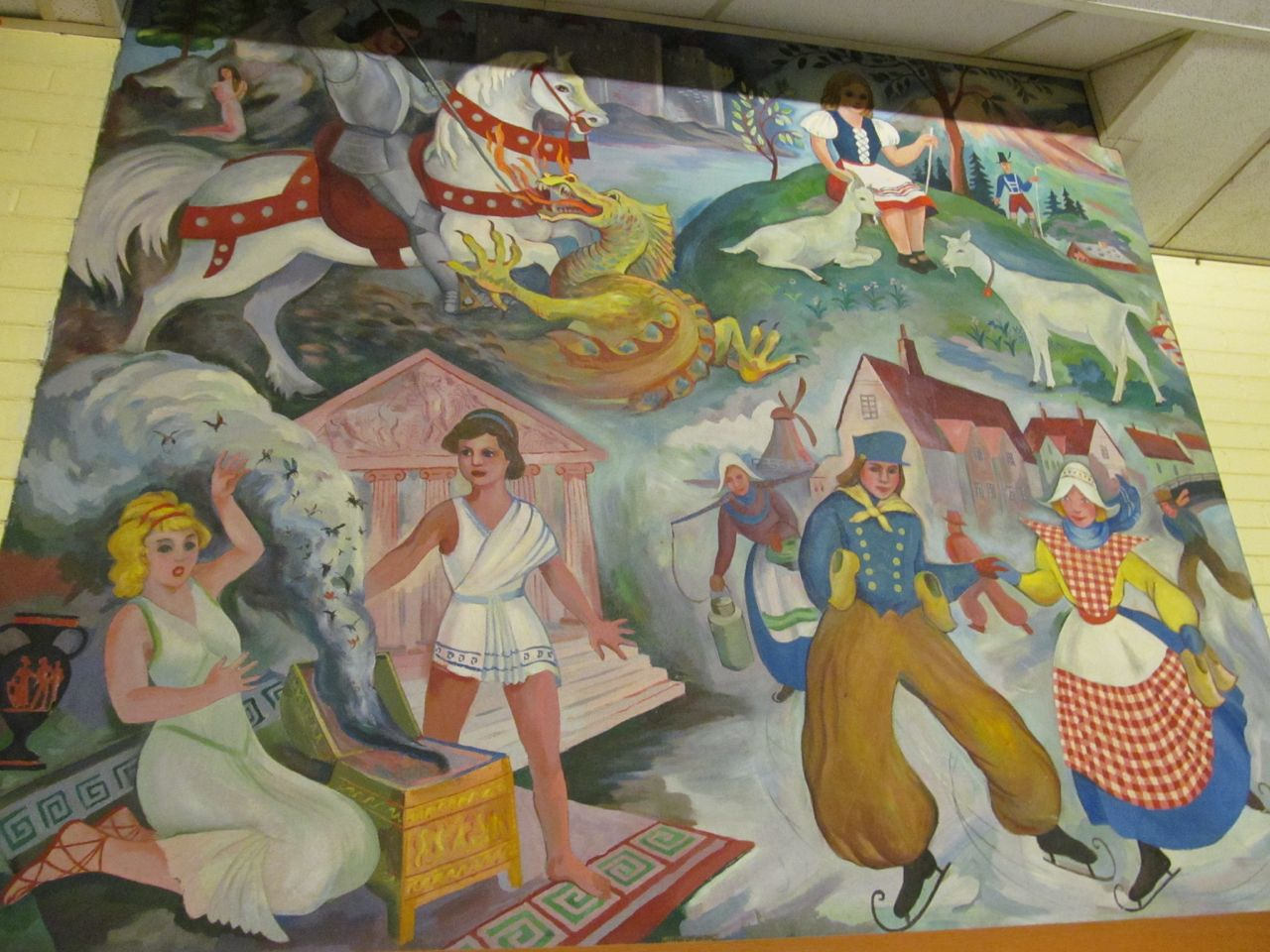 Recently discovered murals WPA Chicago Anne Michalov Art