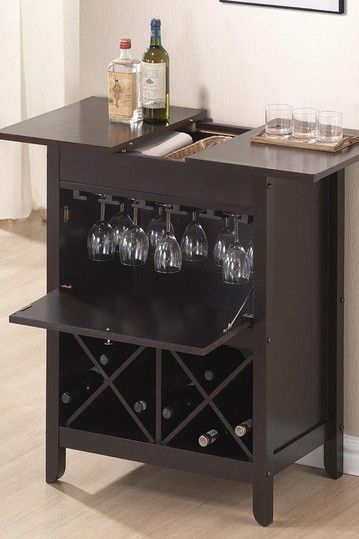 Tuscany Brown Modern Dry Bar And Wine Cabinet Dark By W I On