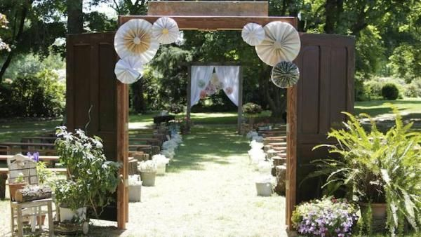 Good Outdoor Wedding Decorations · DIY Rustic Wedding. Watch The Full Episode On  Livewellnetwork.com