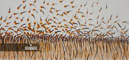 POLINIZACION EN EL CAMPO | Pintura en acrílico sobre madera | 150x70cm | RRiRR Ricardo Gil Turrión