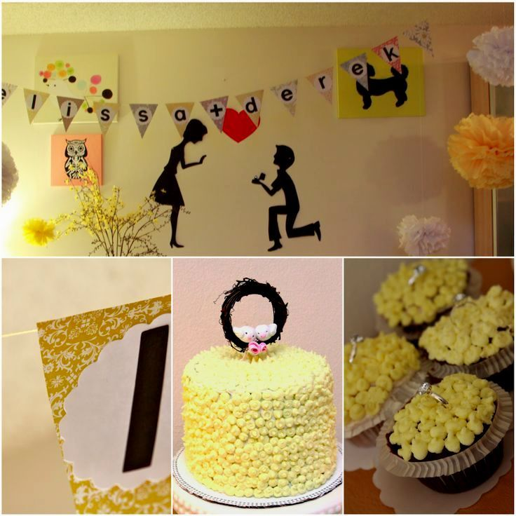 image result for homemade engagement party decor engagement party