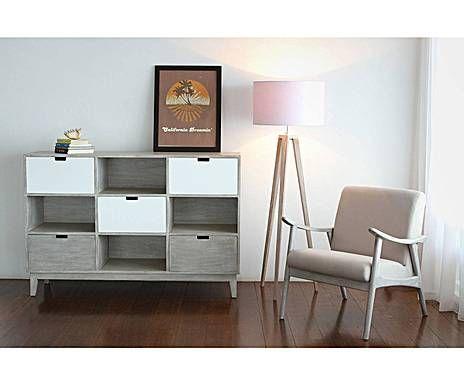 London loft com in legno di mindi con 5 cassetti timaru for Minimal home mobili