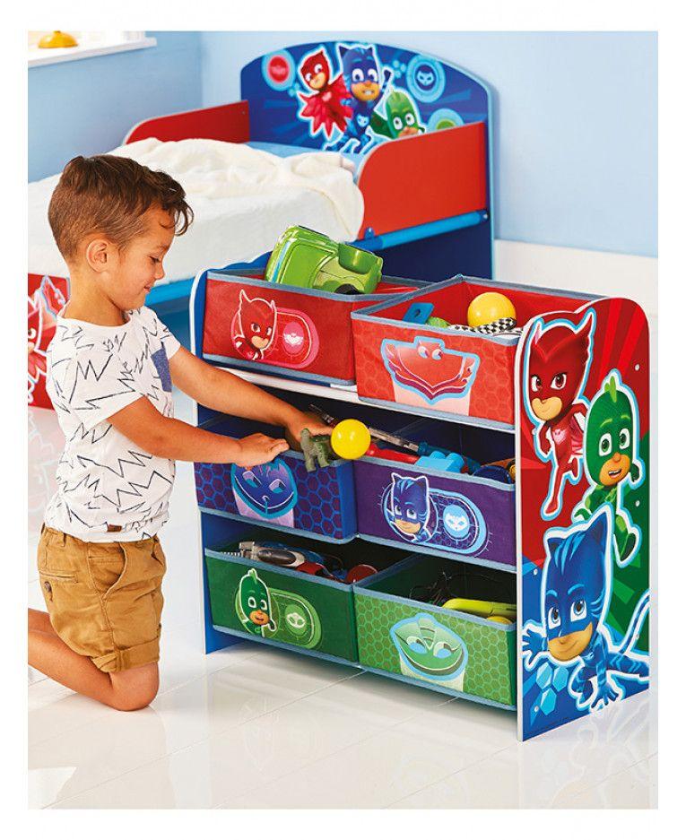 PJ Masks 6 Bin Storage Unit Kids room, Boy toddler