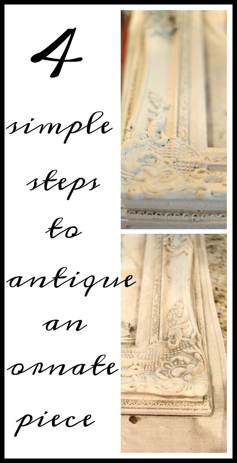 Picturemirror frame savvy southern style how to antique an picturemirror frame savvy southern style how to antique an ornate jeuxipadfo Gallery