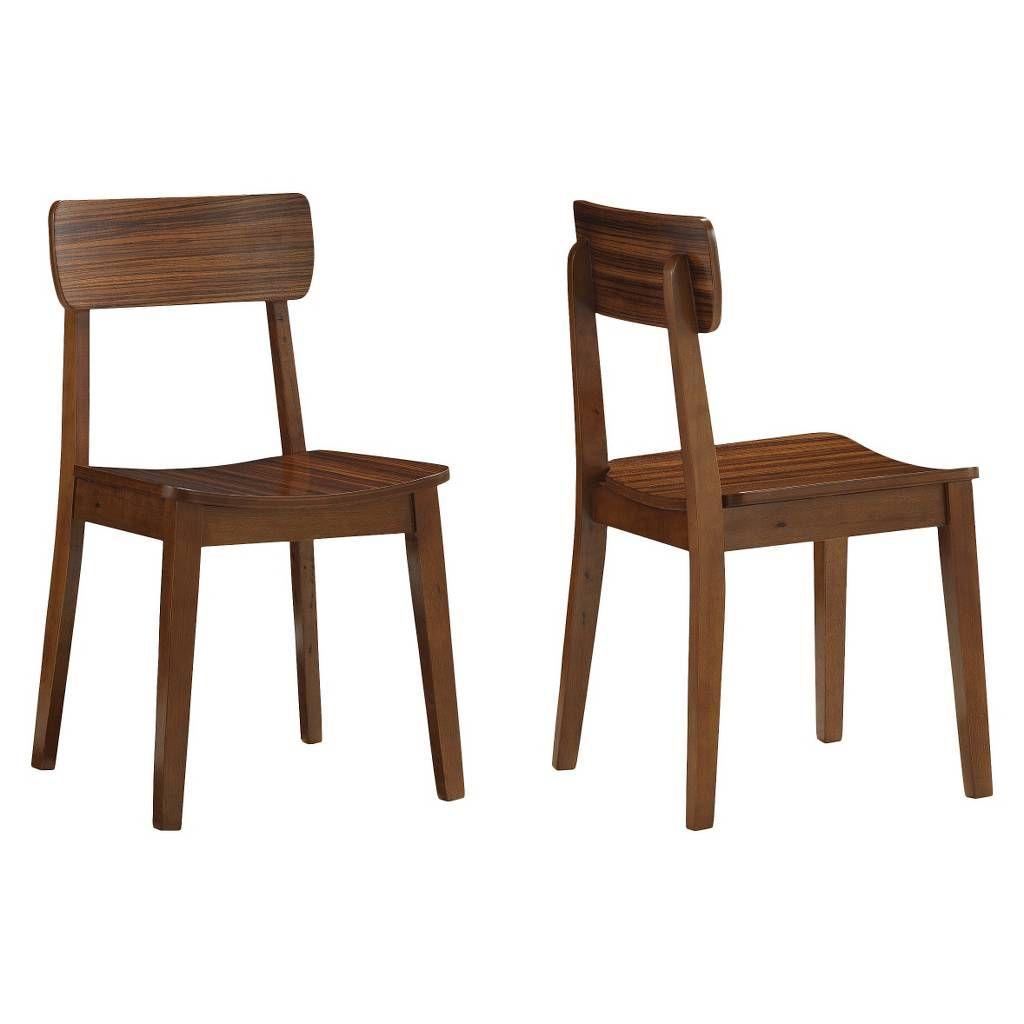 Folding dining table and chair set  Hagen Zebra Dining Chair WoodWalnut Set of   Boraam Image  of