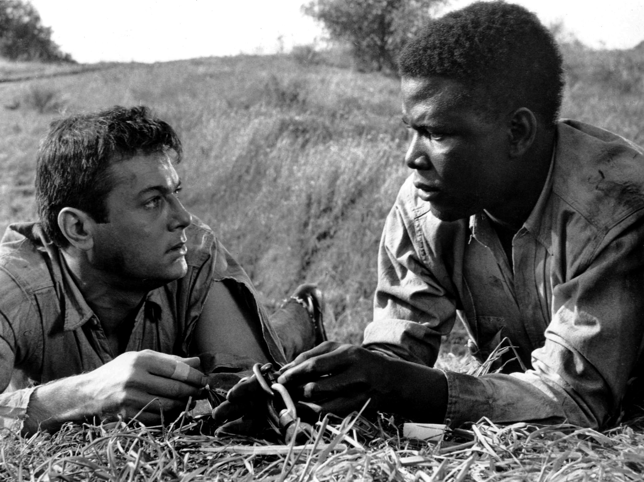 "My favorite photo of Tony Curtis & Sidney Poitier from ""the ..."
