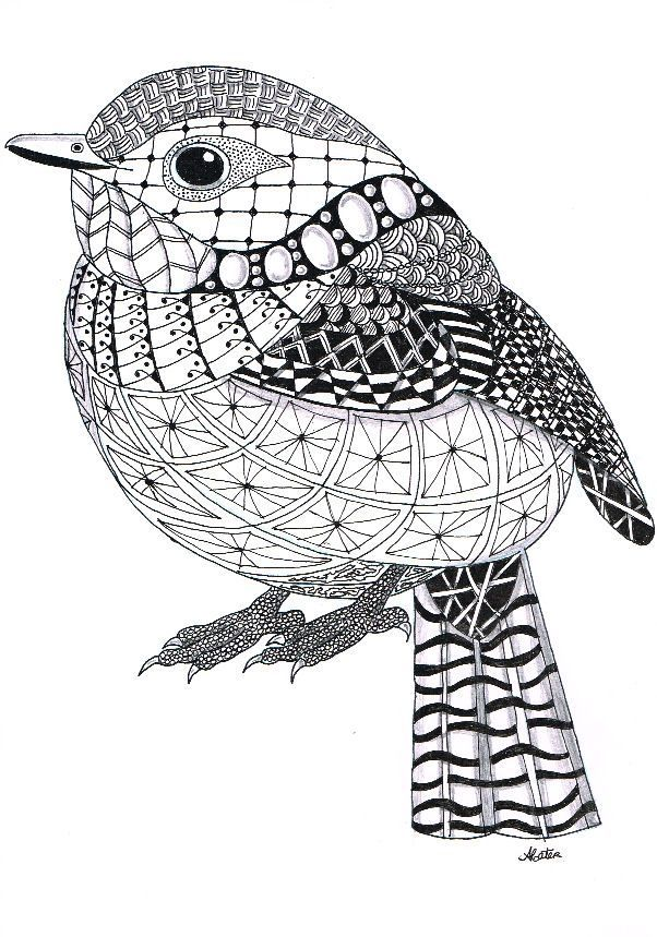 Zentangle Animals | Zentangle Template Zentangle means nothing to ...