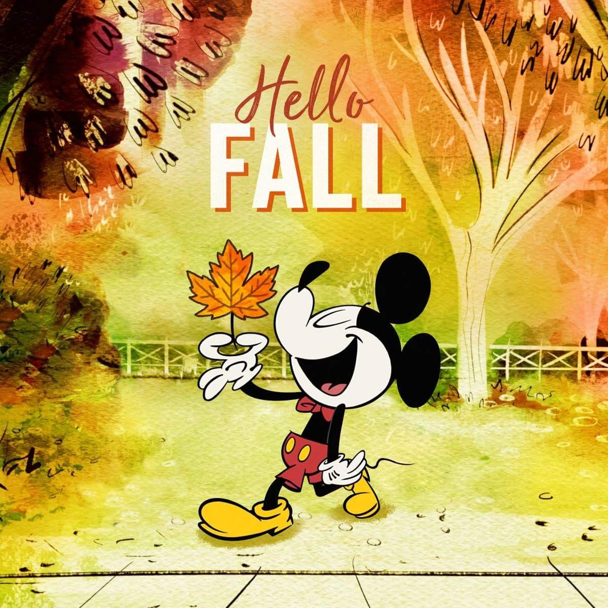 It S The First Day Of Fall Can You Beleaf It Mickey Mickey Mouse Mickey Mouse And Friends