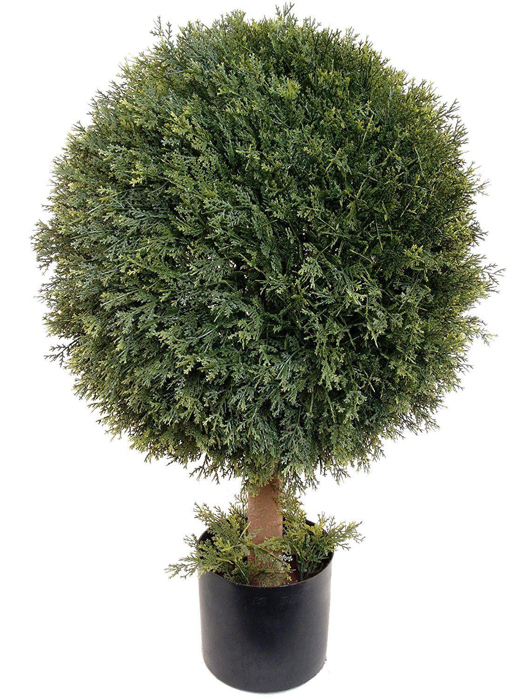 Larksilk u cedar topiary artificial ball tree plant outdoor