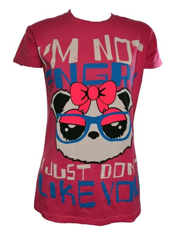 """""""I'm not angry I just dont like you"""" T-shirt www.ukdk.dk"""