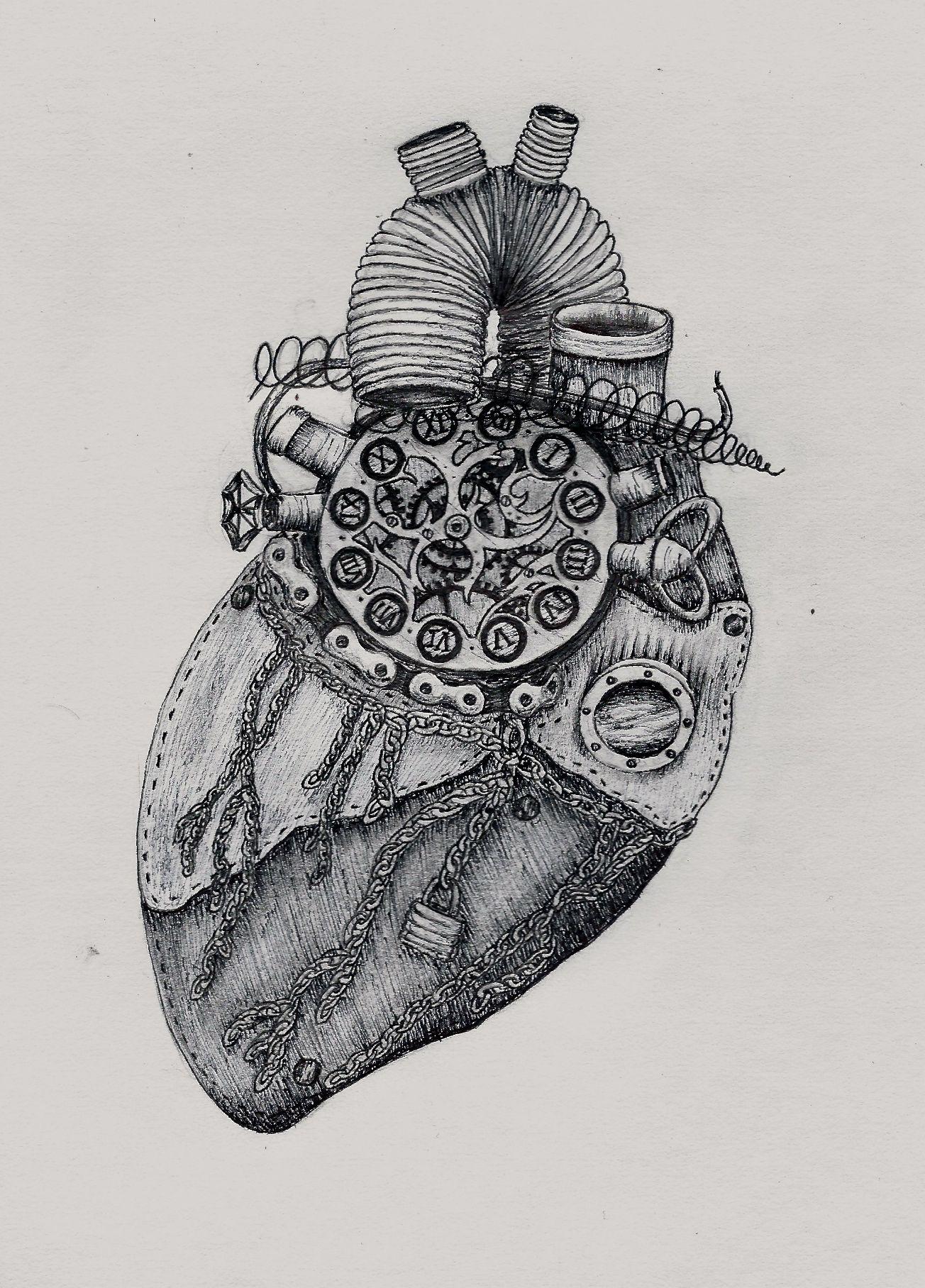 Steampunk Heart Drawing - Google Art Dibujos De