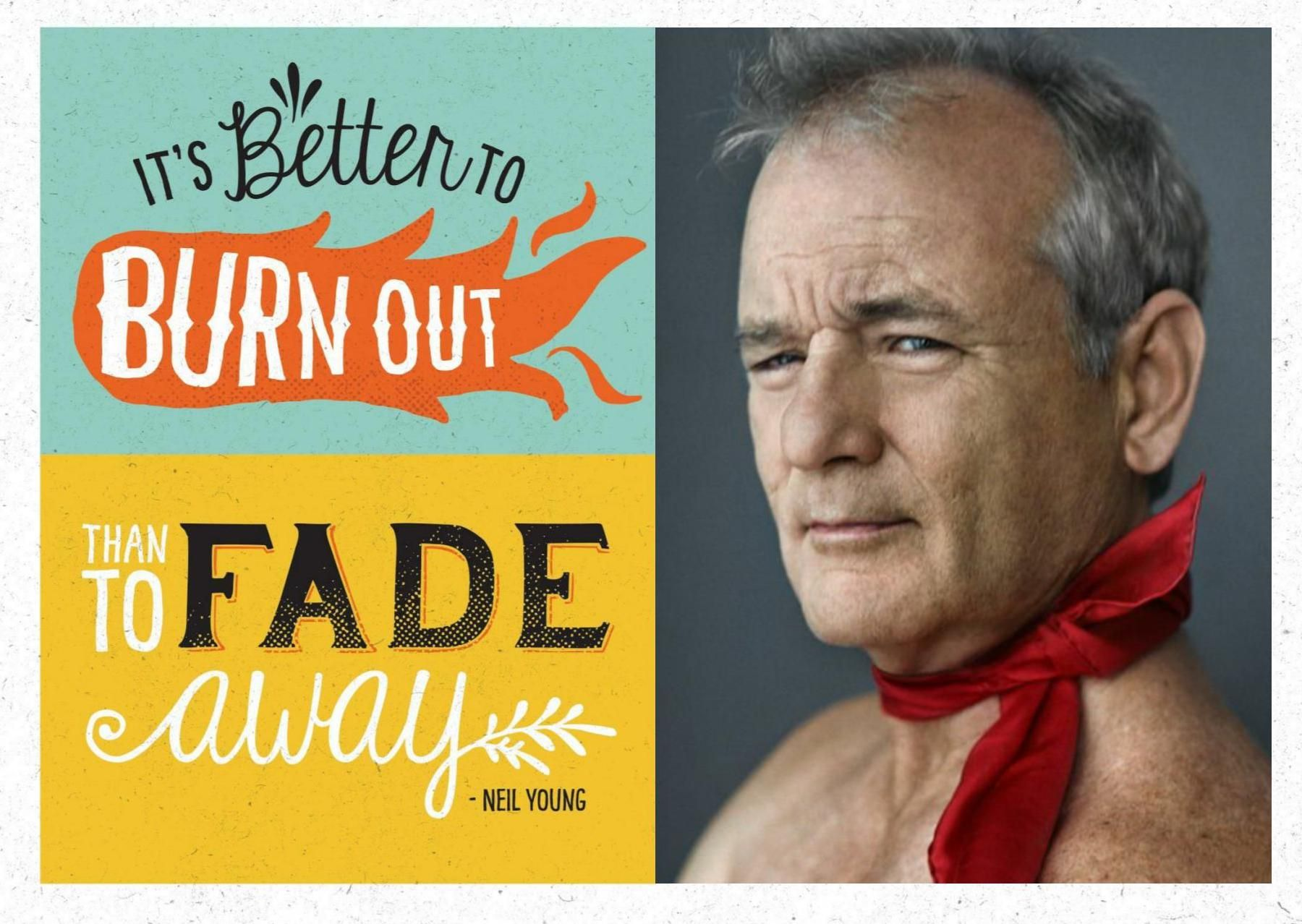 We made Arnie a birthday card using images of some of our – Bill Murray Birthday Card