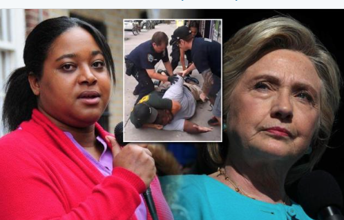 Erica Garner Blasts Clinton Campaign For Their Email Talking About ?Using? Her Father?s Death