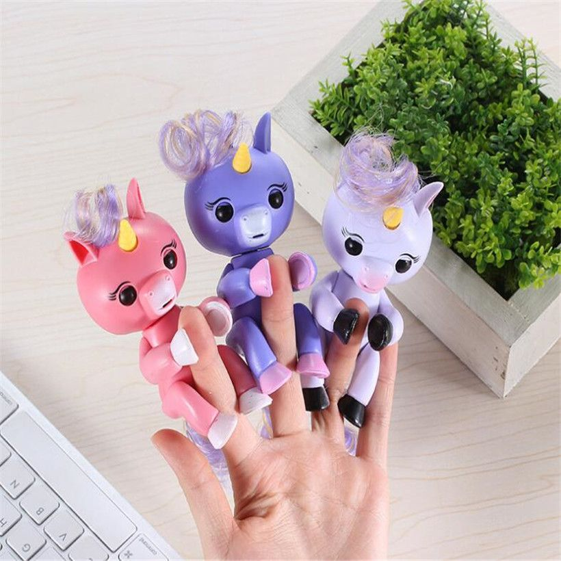 Grappige Hoge Kwaliteit Fingerlings Interactieve Baby Eenhoorn