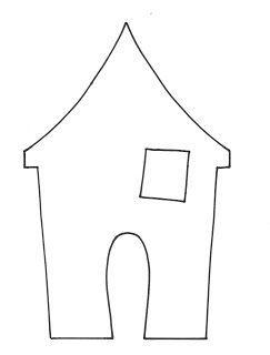Spooky House Template Small Haunted House Printable Template