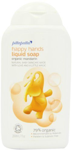 Pittapatta Organic Happy Hands 200ml Natural Liquid Soap Asin: B009P2YX3Y Ean: 5060193362977