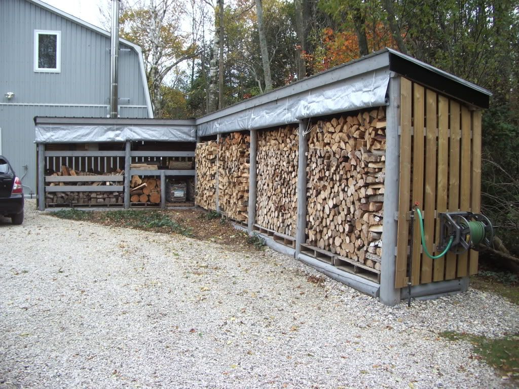 Firewood storage on pinterest indoor firewood storage for Wood storage building plans