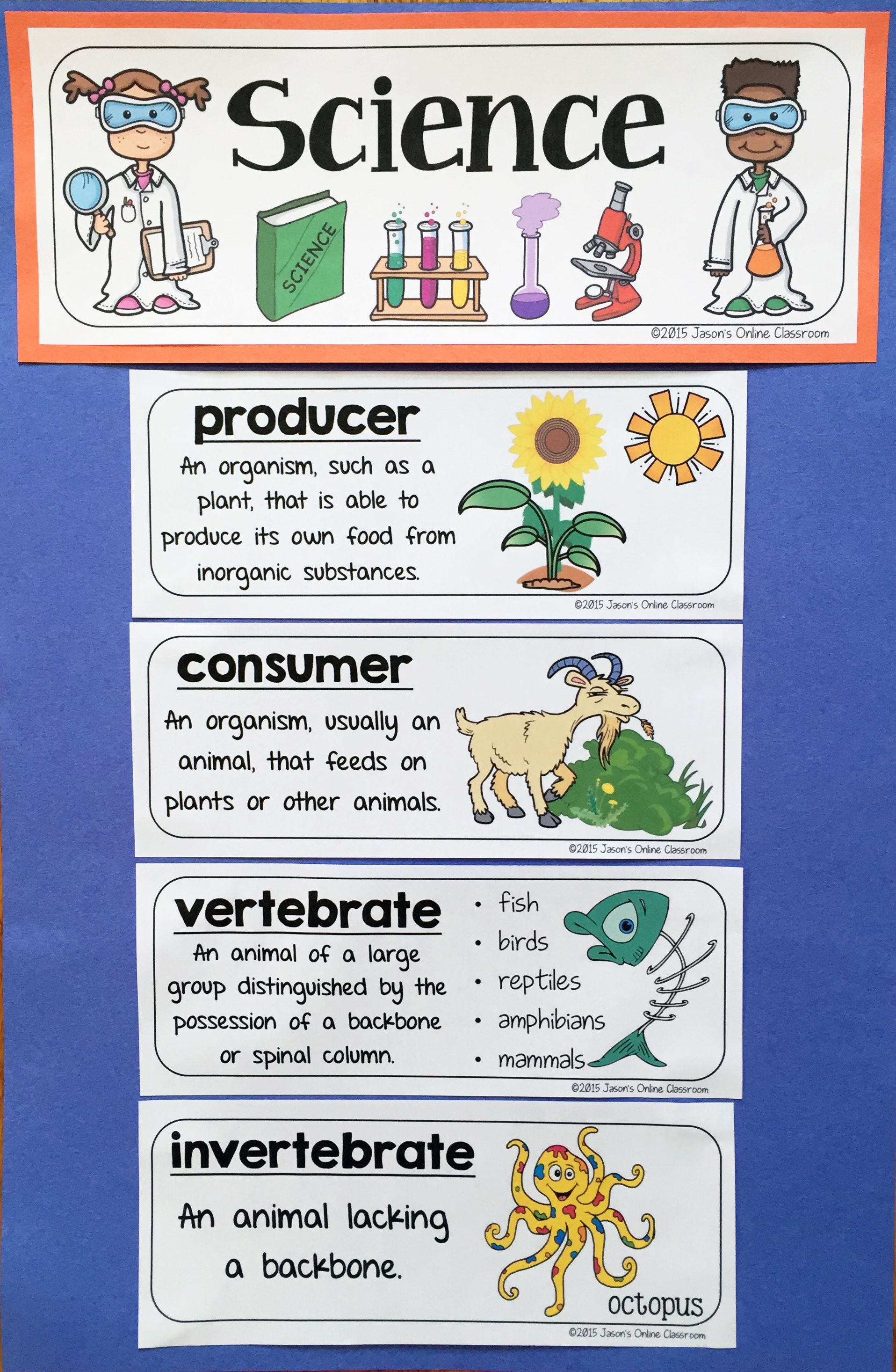 Science Word Wall Science Vocabulary Amp Science Interactive Notebook Inserts