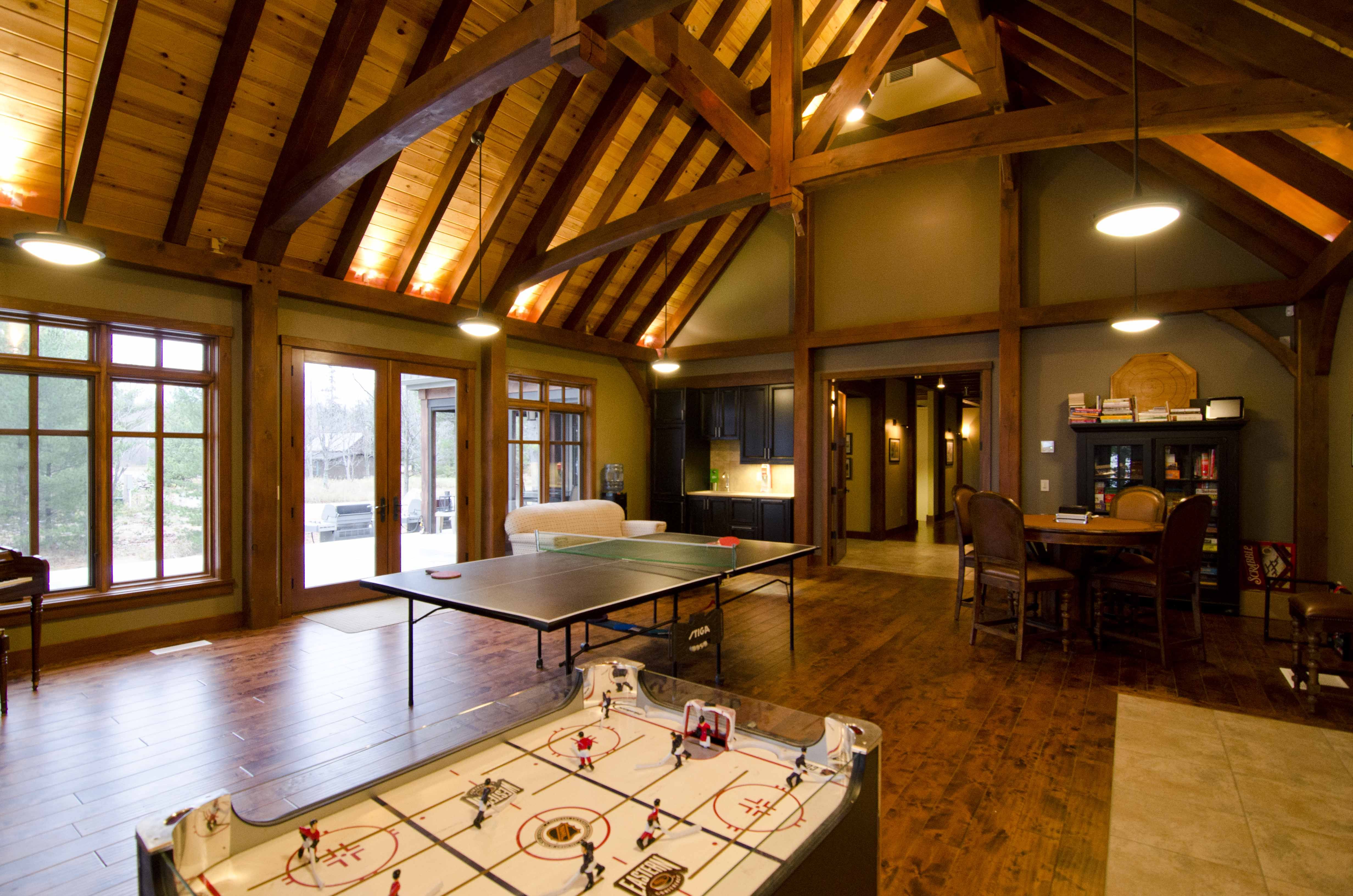 A Frame Home Interiors timber frame home interior kitchen is modern yet rustic Timber Home Designs Home