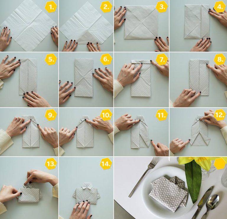Servietten falten einfach: 15 Anleitungen für jeden Anlass + Video ...