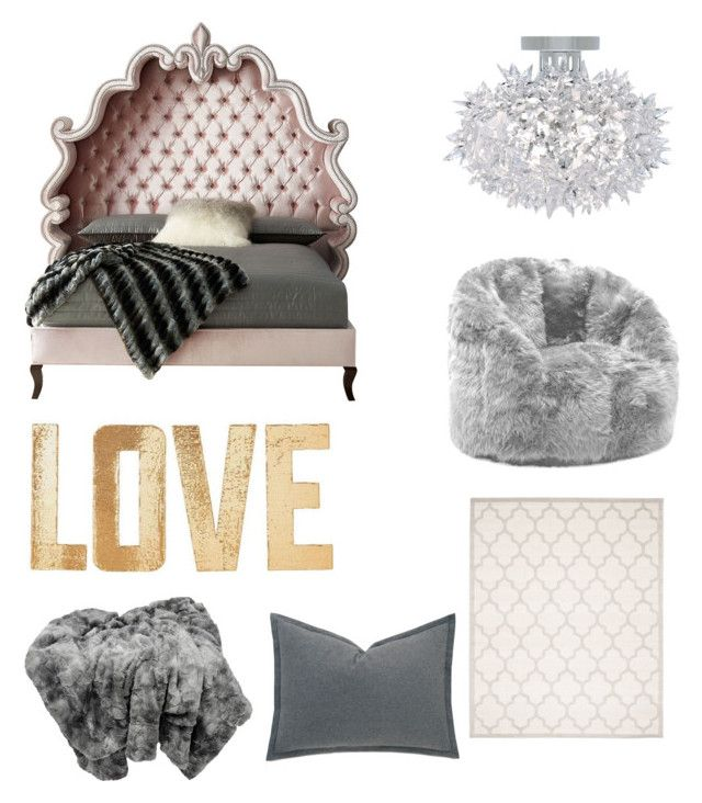 """""""For the queen"""" by emmaraej on Polyvore featuring interior, interiors, interior design, home, home decor, interior decorating, Haute House, Kartell, Comfort Research and Safavieh"""