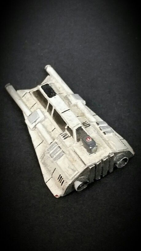 Snowspeeder I made way back in high school. Constructed from paper and cardboard=)