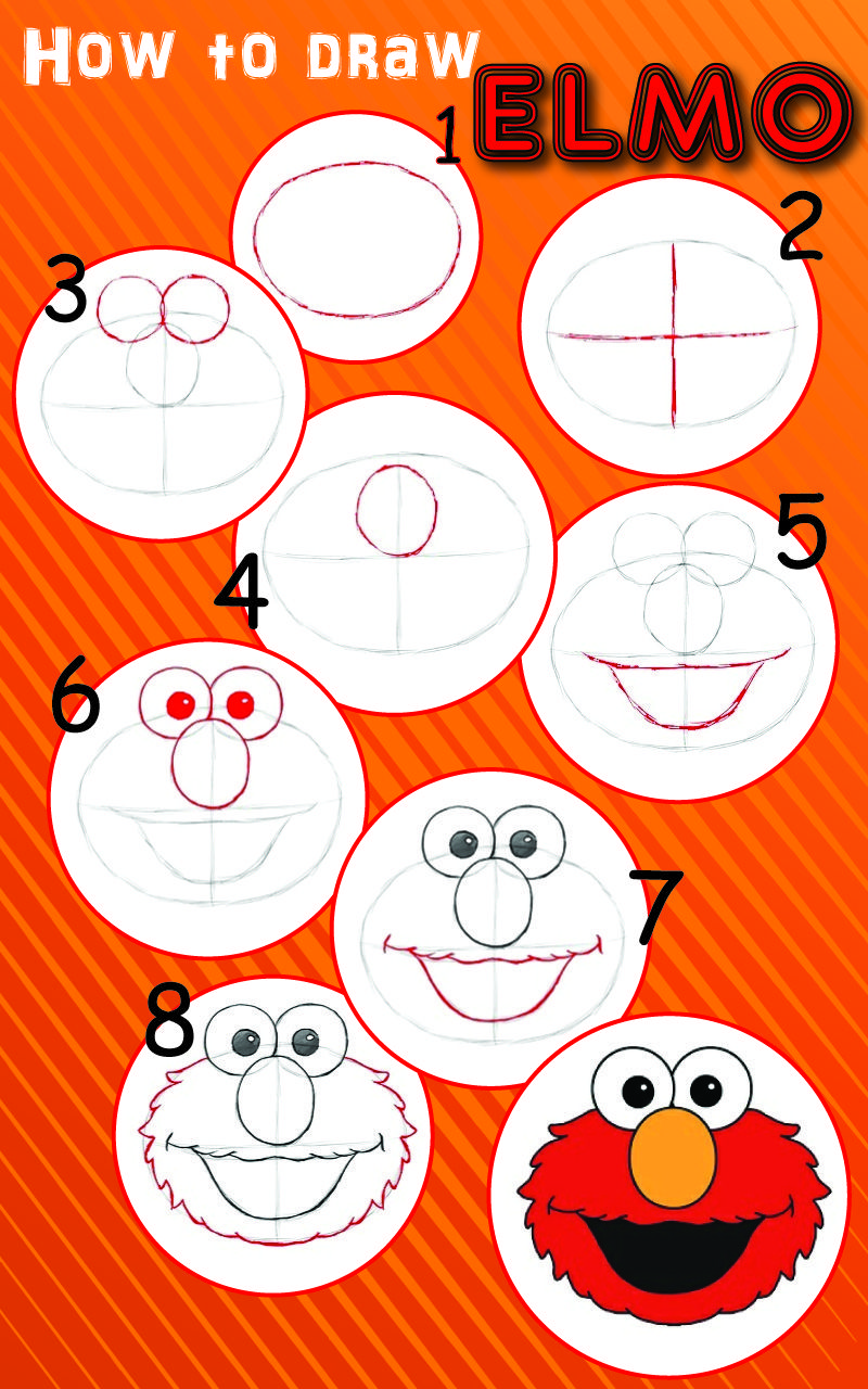 Learn How to Draw Elmo! - video dailymotion