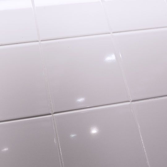 6 X Imperial Gloss White Flat Wall Tile Made By Johnson Tiles