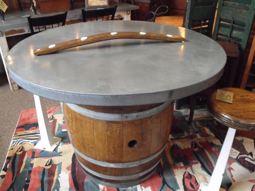 Http Www Metaltoppedtables Com Aged Galvanized Table Top Html