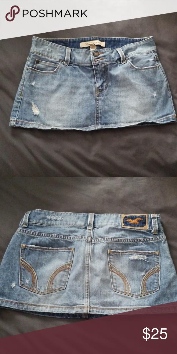 Hollister distressed skirt