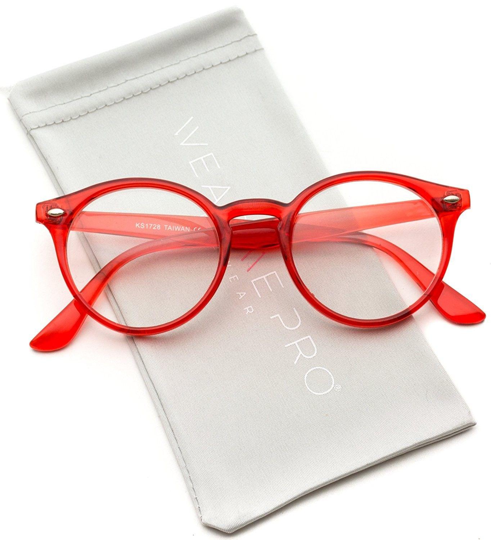 Wearme Pro Clear Lens Semi Transparent Clear Frame Colorful Glasses Sunglasses Eyewear Fashion Eye Glasses Red Glasses Frames Red Frame Glasses