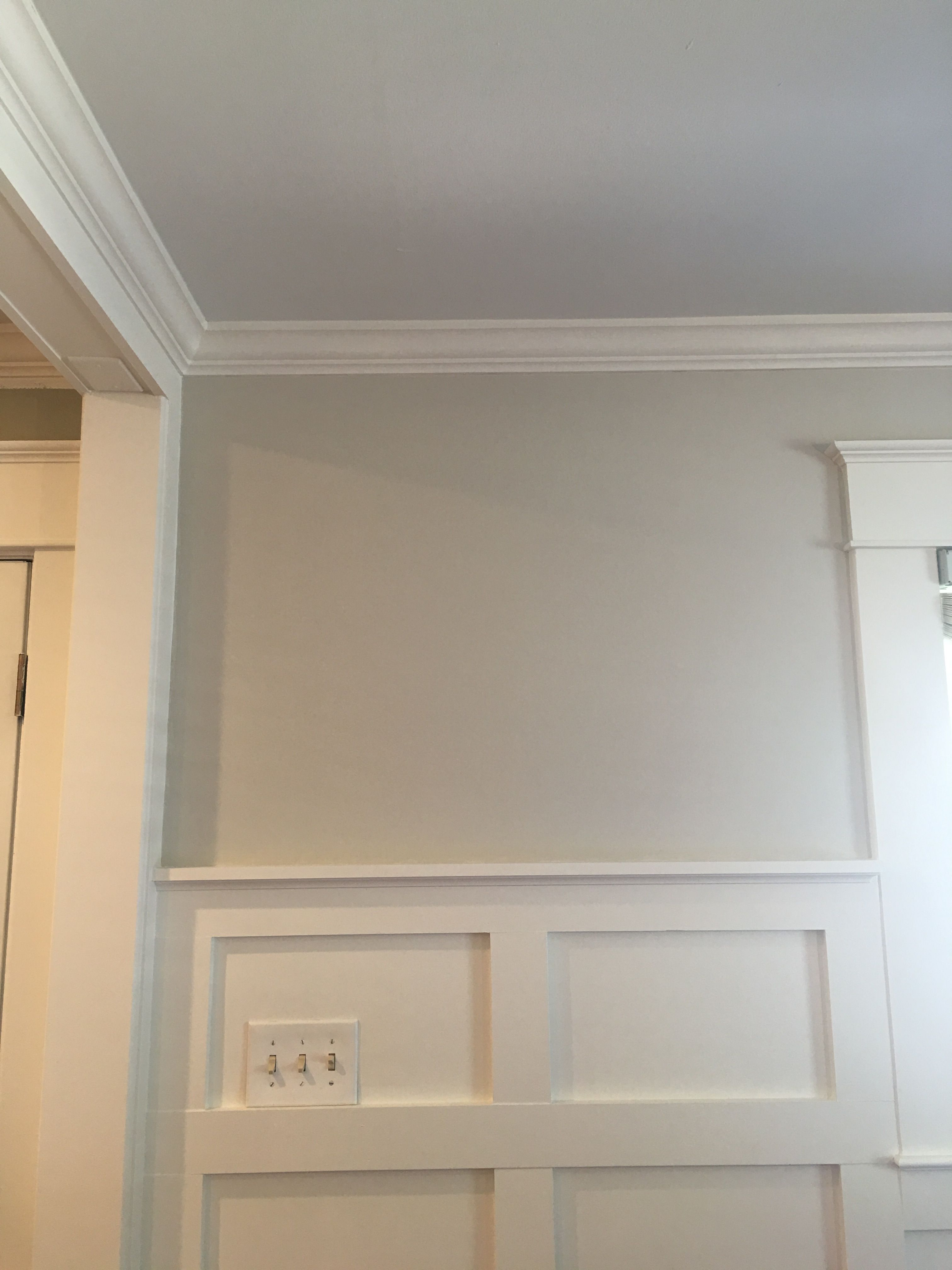Benjamin Moore Paint Ceiling 25 Ocean Air Wall 50 Revere Pewter